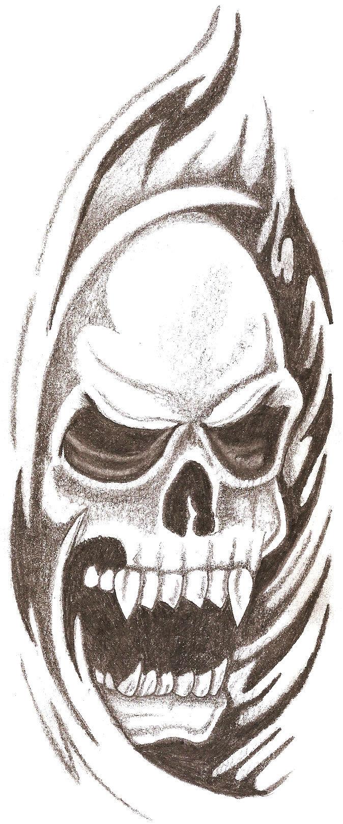Cool Skull Sketch : skull, sketch, Skull, Drawing, GetDrawings, Download