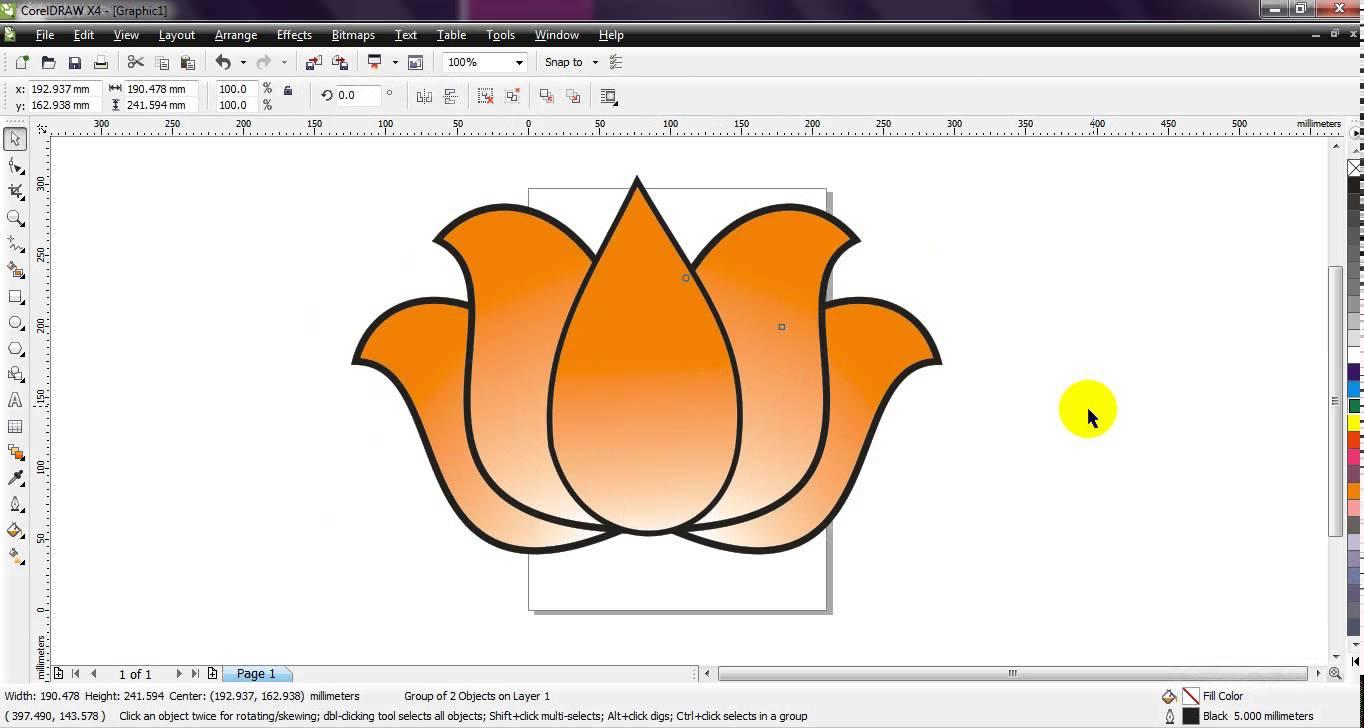 hight resolution of 1364x728 corel draw how to draw bjp lotus very simple by ganesh jamkar