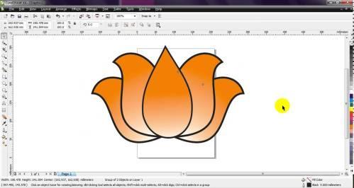 small resolution of 1364x728 corel draw how to draw bjp lotus very simple by ganesh jamkar