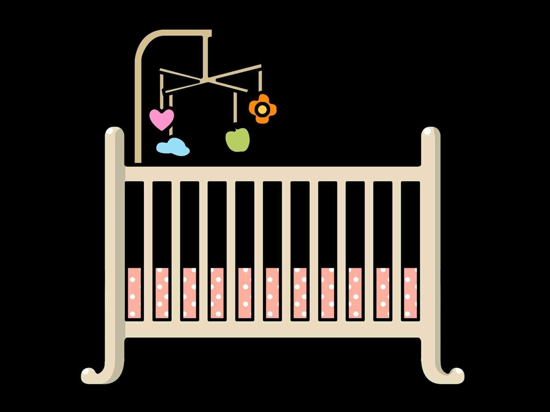 home sweet home: Baby Crib Drawing Easy