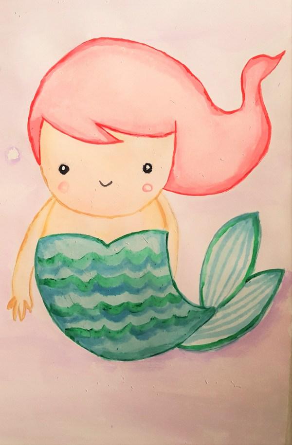 Cute Mermaid Drawing Free Personal Of Choice