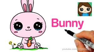 bunny drawing cartoon rabbit draw drawings easy bunnies kawaii getdrawings unicorn clipartmag animal dibujos