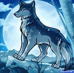 wolf pup cute drawing anime drawings cartoon mother getdrawings