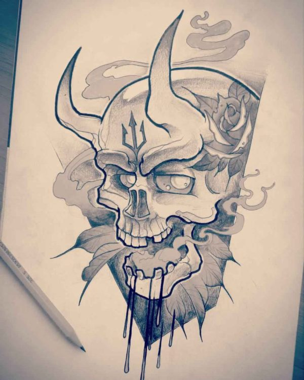 20 Demon Skull Drawings Easy Pictures And Ideas On Meta Networks