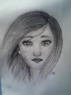 sad drawing depressed deviantart getdrawings