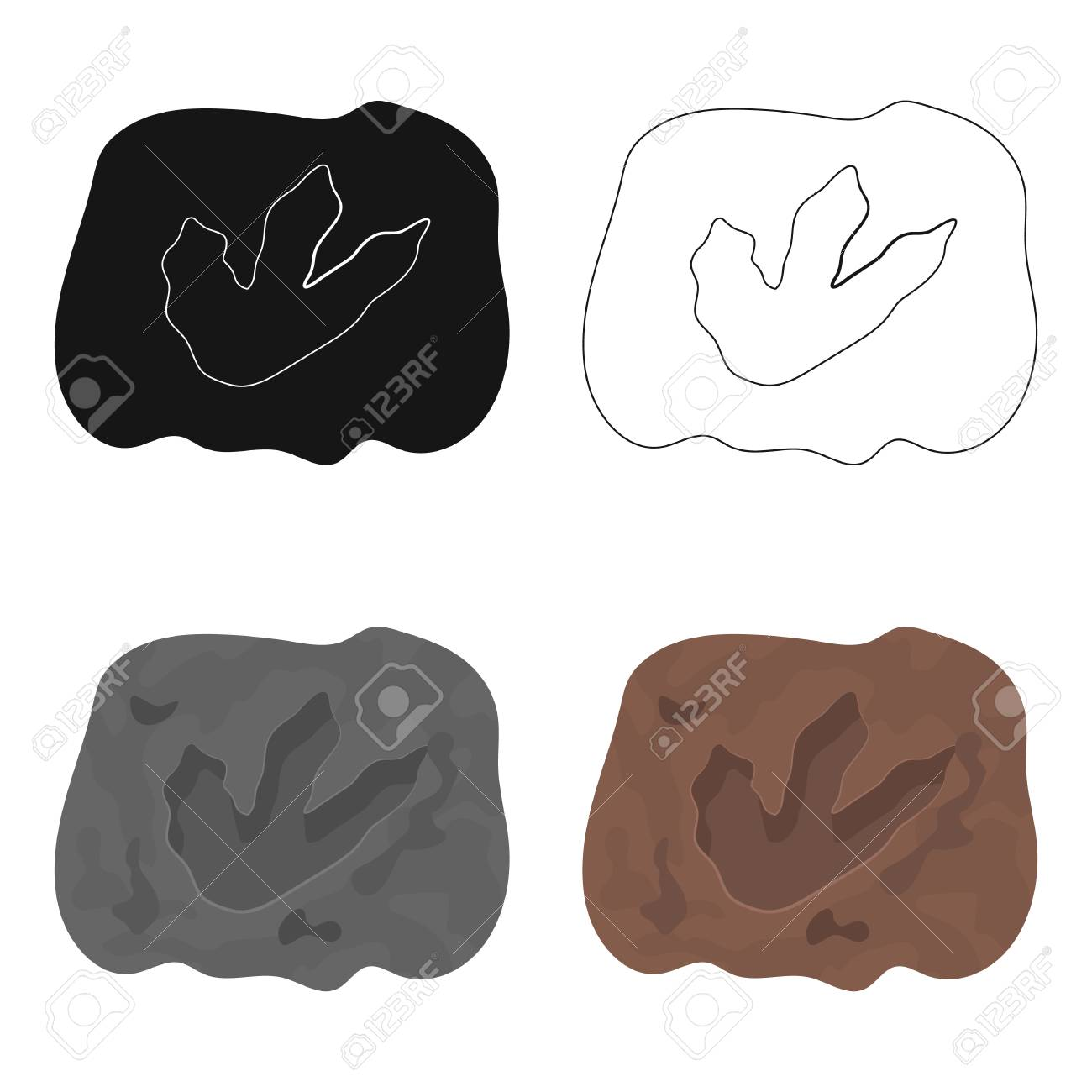 Dinosaur Footprint Drawing At Getdrawings