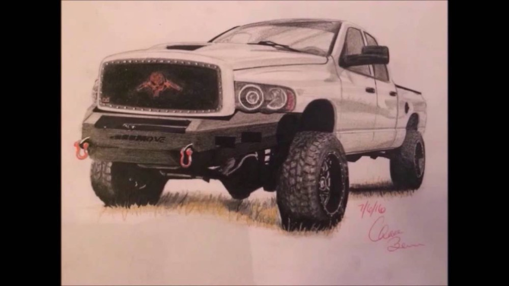 medium resolution of 1280x720 dodge ram time lapse drawing