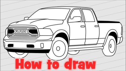 small resolution of 1280x720 how to draw truck dodge ram 1500