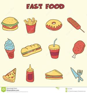 drawing fast doodle icons drawings foods draw easy doodles step junk projects hand vector getdrawings illustration