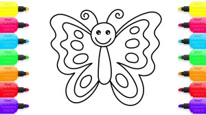 butterfly drawing colouring animals colour draw markers colored getdrawings creativity