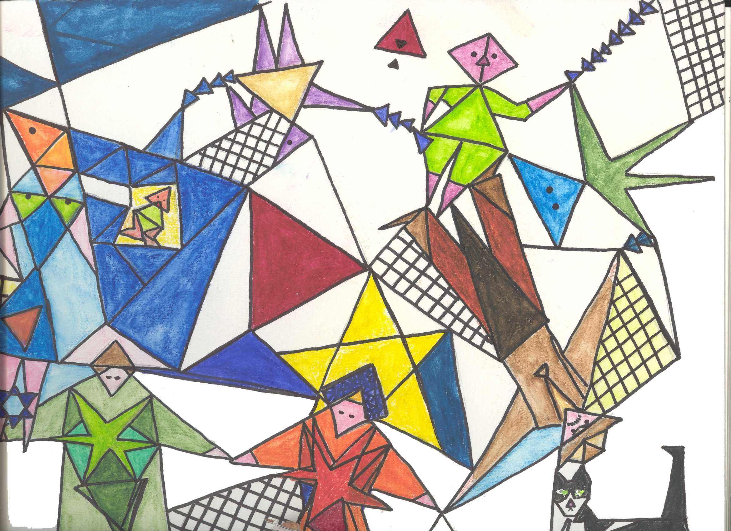 Drawing With Triangles At Getdrawings