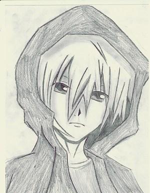boy anime drawing guy hoodie easy deviantart getdrawings draw pencil wolf killers completed