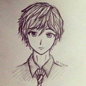 anime boy easy drawing drawings pencil getdrawings