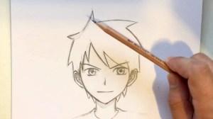 anime draw boy easy drawing hair guy male manga sketch hairstyles tutorial drawings step kid slow boys narrated timelapse getdrawings