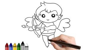 cupid drawing draw simple valentine easy tutorial valentines getdrawings lessons