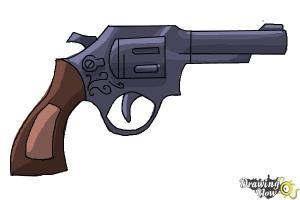 gun draw simple drawing easy step getdrawings drawingnow