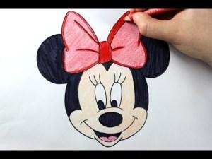 minnie mouse mickey easy drawing draw simple tutorial drawings disney getdrawings doh play paintingvalley