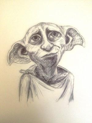 pen dobby sketch drawing easy drawings simple draw sketches getdrawings