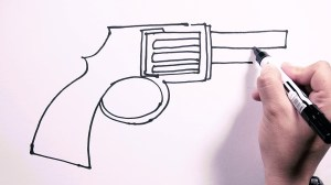 colt drawing pistol easy draw revolver drawings getdrawings freehand paintingvalley