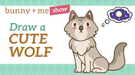 Cute Easy Cute Wolf Drawing
