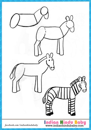 drawing zebra easy step draw drawings sketch tips animals learn getdrawings lessons sketches ki children cartoon paintingvalley