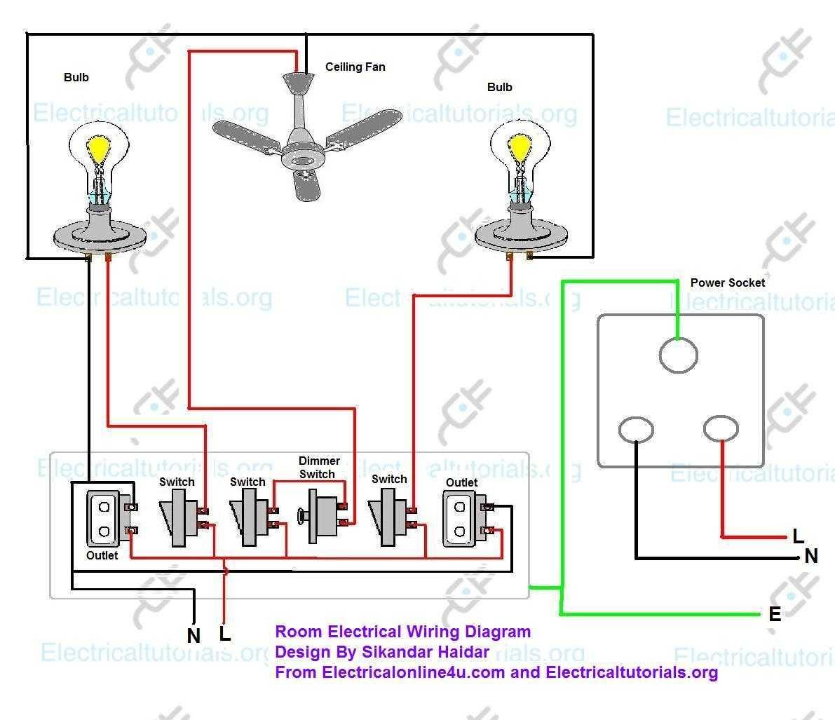 example room circuit schematic diagrams