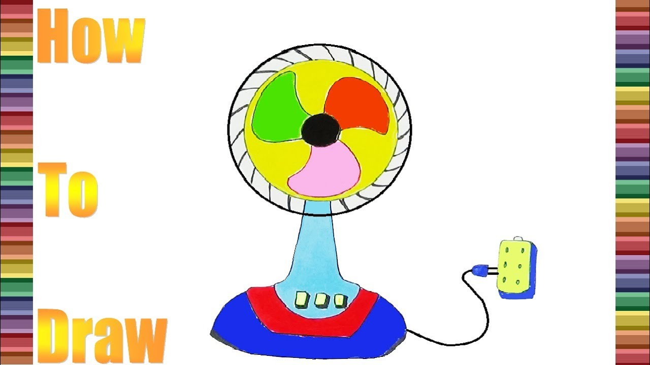 hight resolution of 1280x720 how to draw and coloring the electric fan part 13 coloring