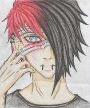 emo guy drawing