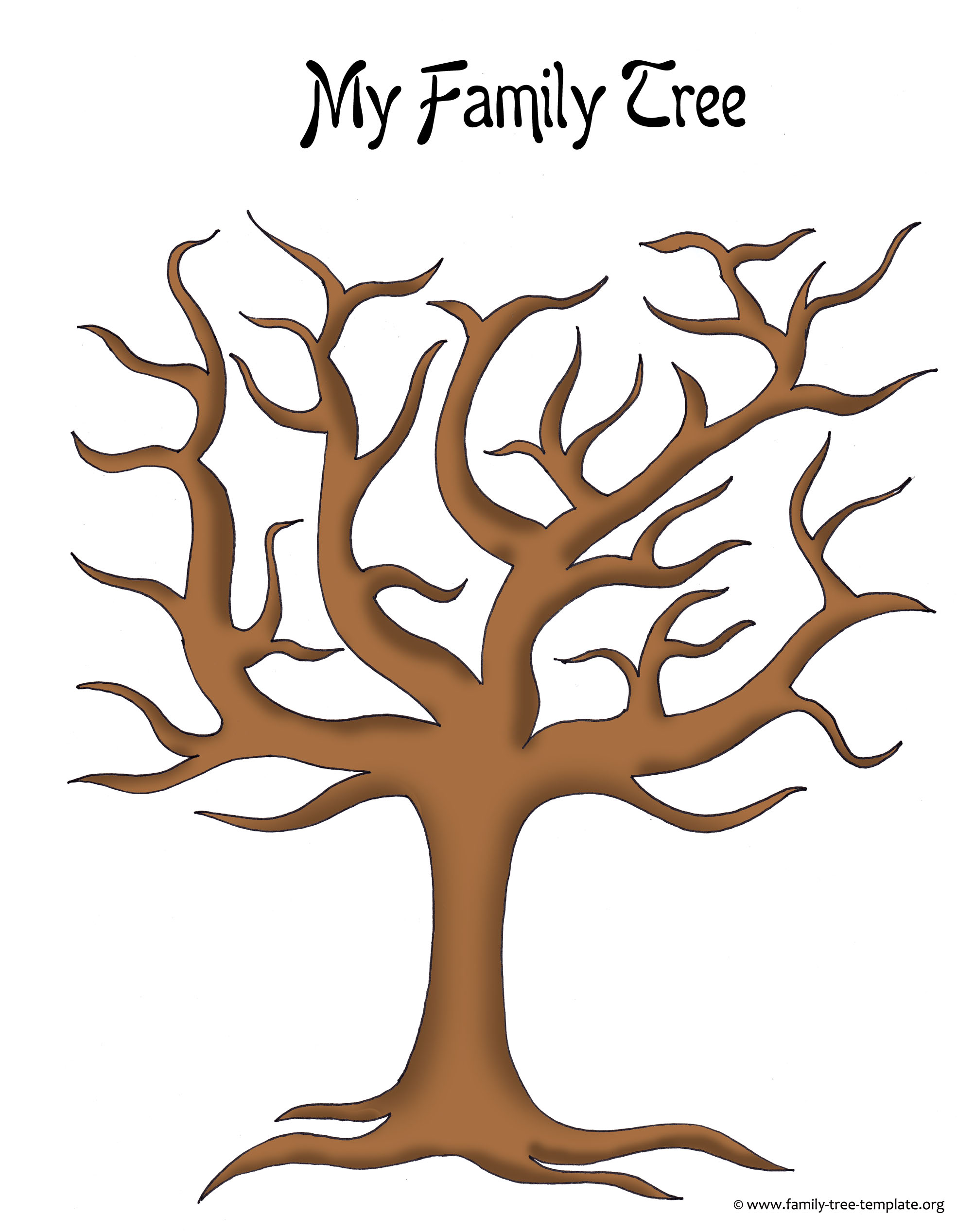 Fingerprint Family Tree Clip Art