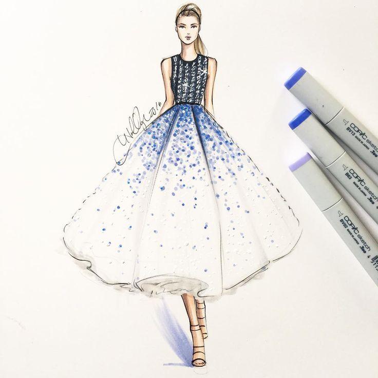 Girl Pencil Drawing Dress Novocom Top