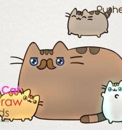 1280x720 how to draw pusheen cat father s day step by step drawing for kids [ 1280 x 720 Pixel ]