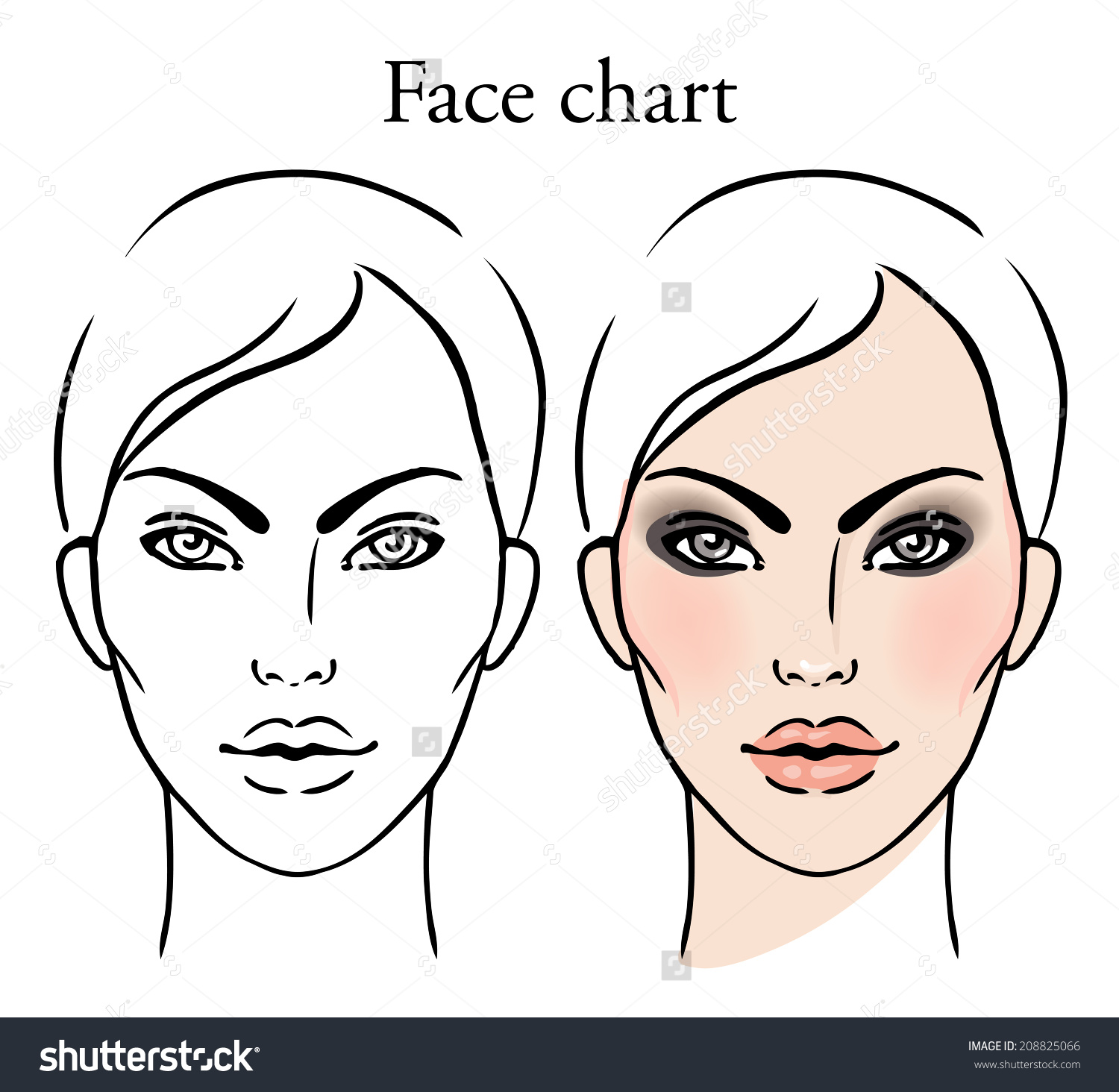 Female Face Drawing Template At Getdrawings