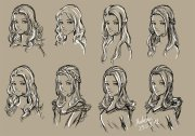 female hairstyles drawing