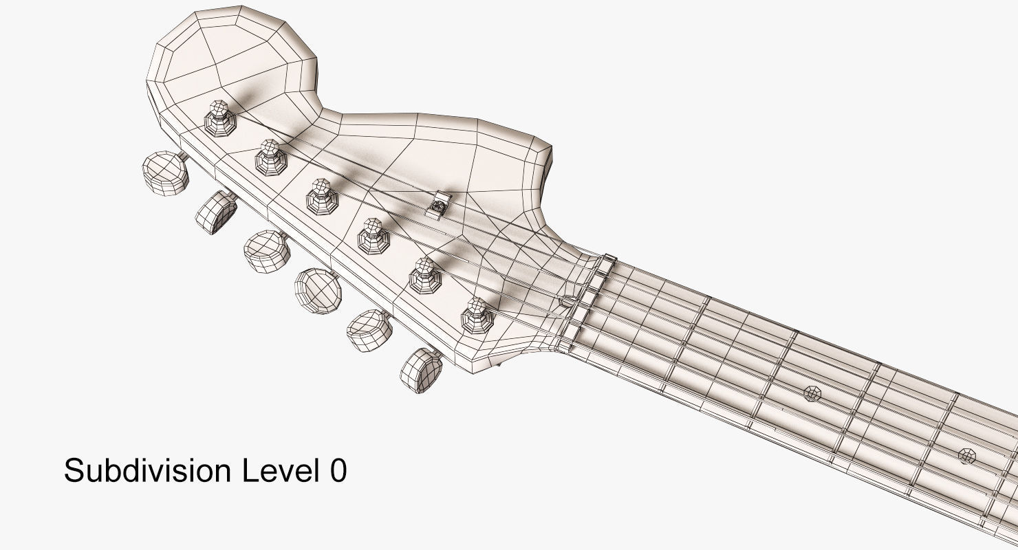 hight resolution of 1480x800 3d model fender stratocaster electric guitar cgtrader