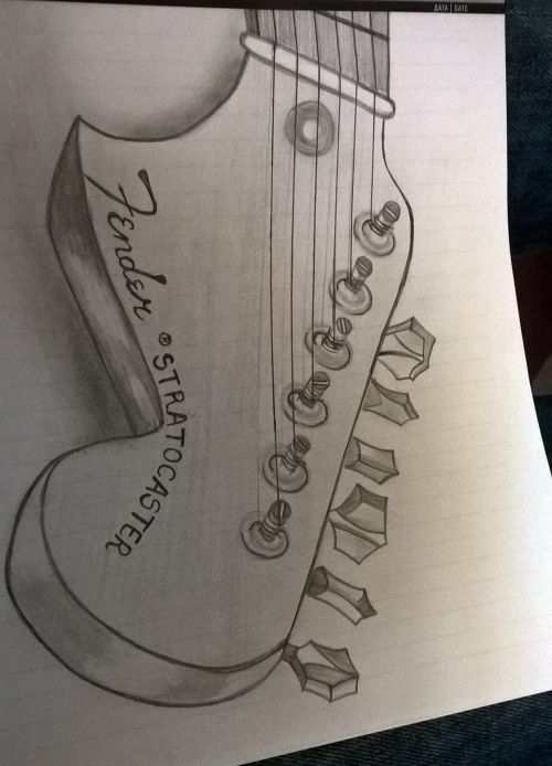 small resolution of 1840x2554 fender stratocaster drawing instruments drawings
