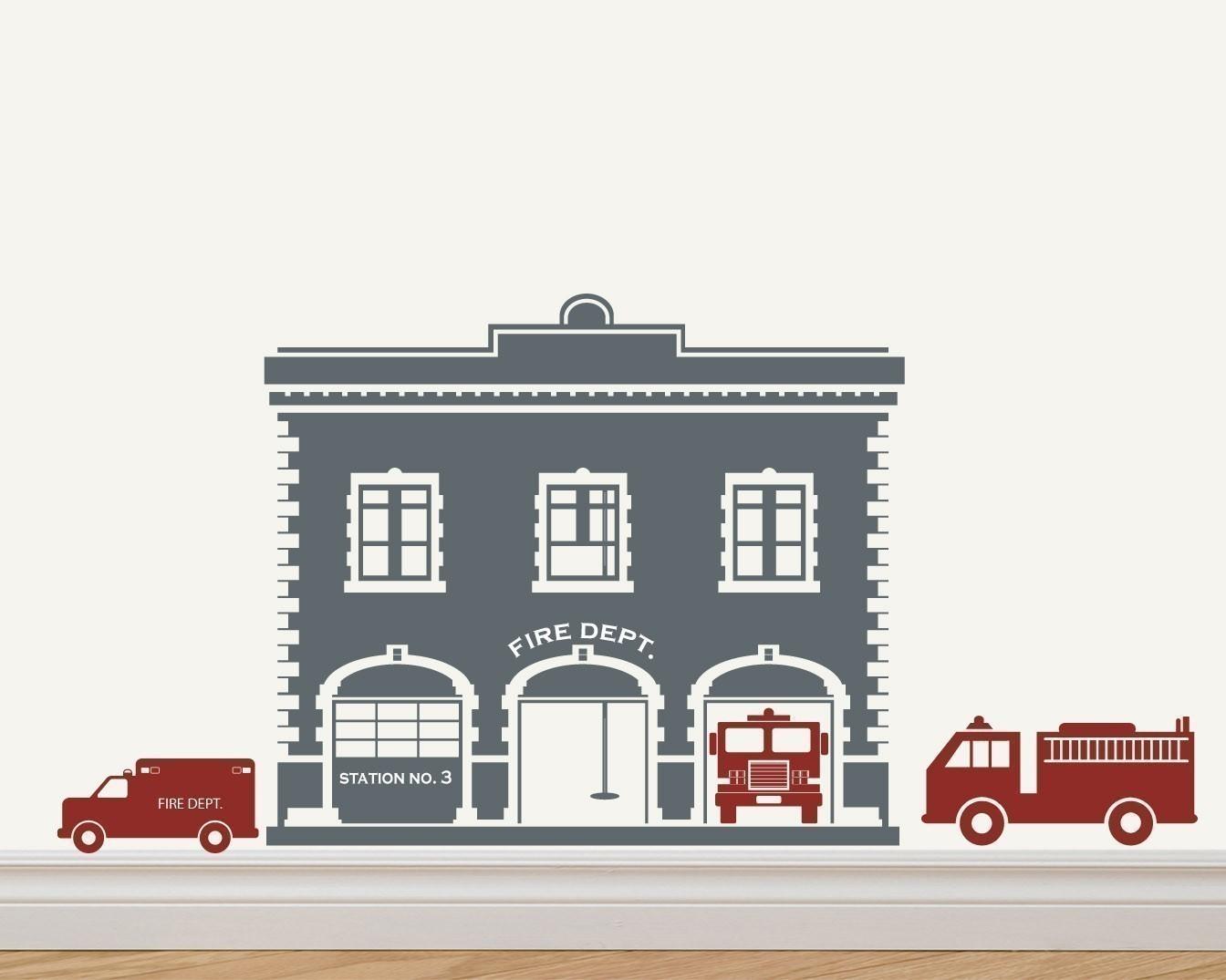 hight resolution of 1344x1075 fire station fire house fire trucks vinyl sticker decal original