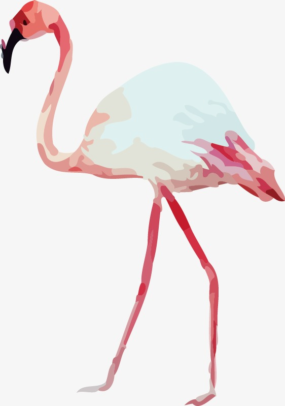 flamingo drawing template at