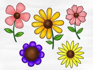 flower simple drawing draw drawings flowers different pencil drawingartpedia sketch steps getdrawings