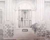 Front Door Drawing at GetDrawings.com | Free for personal ...
