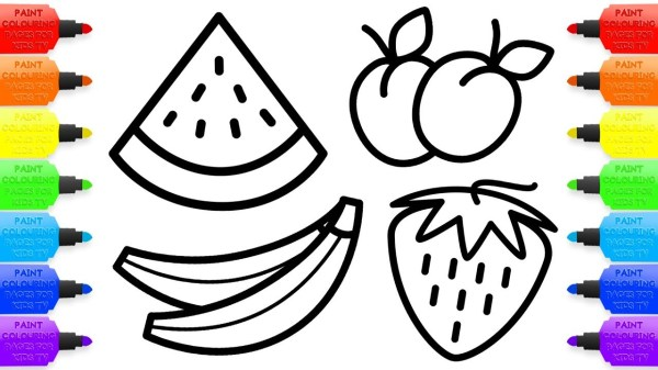 fruits coloring pages # 62
