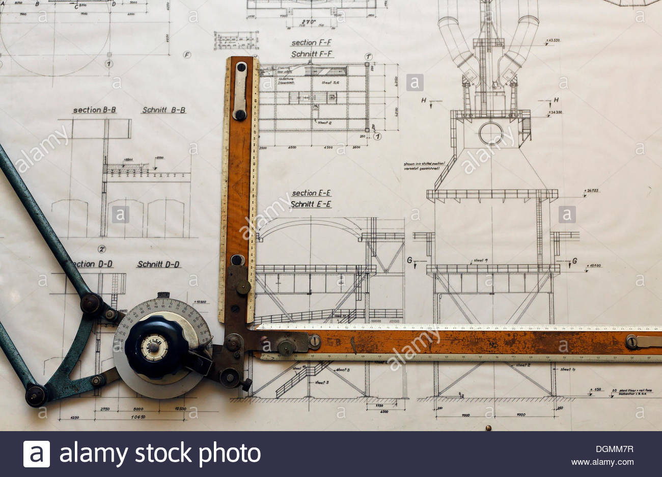 hight resolution of 1300x936 design drawing of a dust catcher for a blast furnace drawing