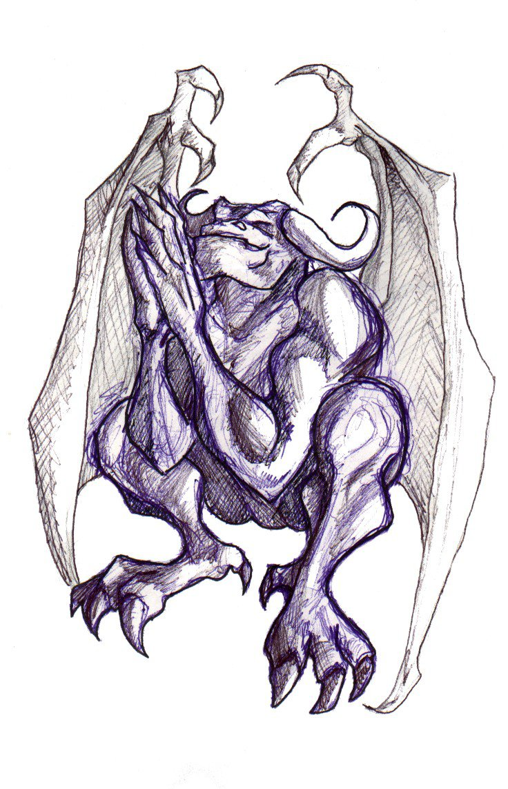 hight resolution of 736x1143 gargoyle drawings related keywords amp suggestions