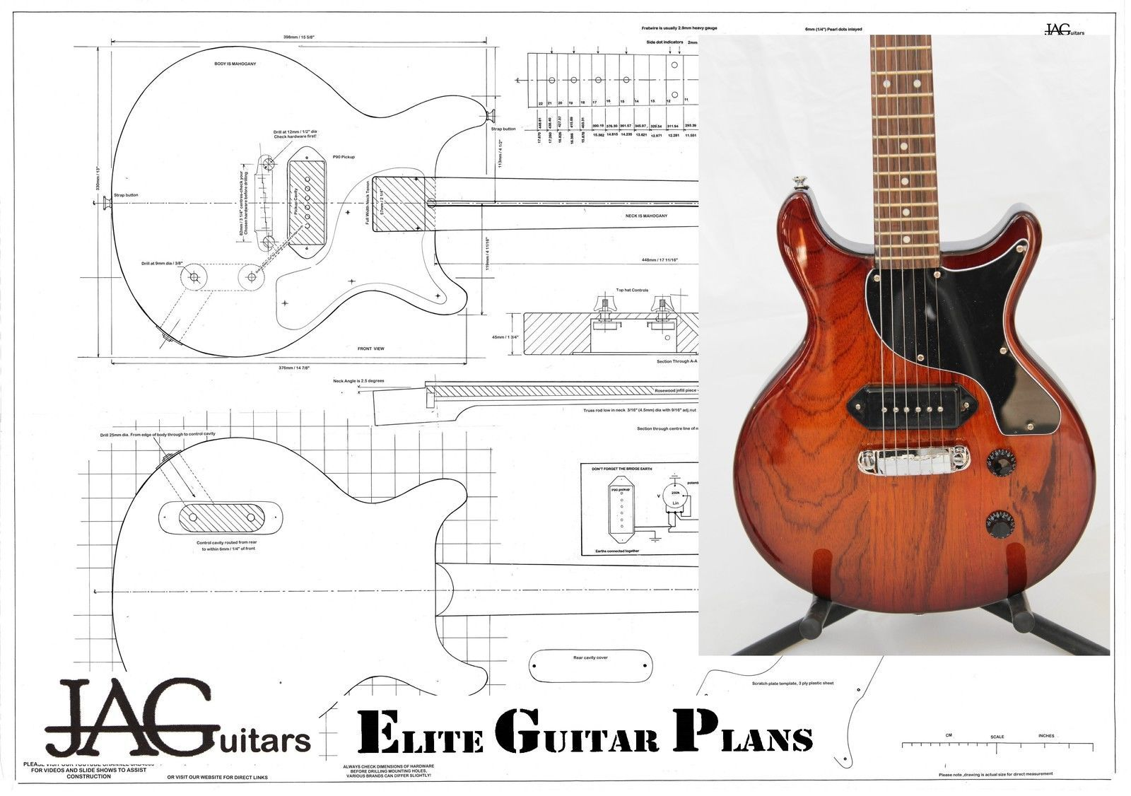 hight resolution of 1600x1126 luthiers project plandrawing for gibson les paul junior double
