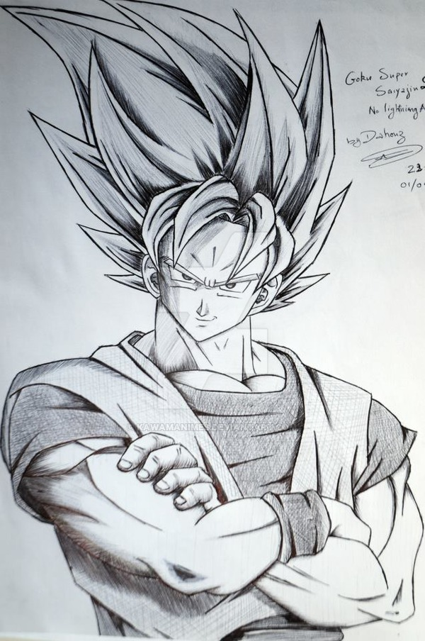Goku Super Saiyan 2 Drawing At Free For