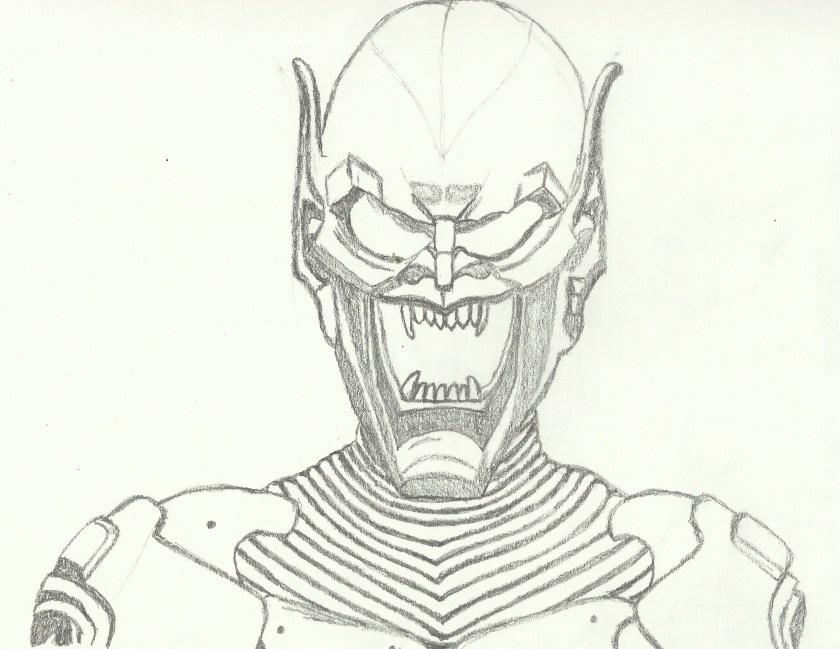 green goblin drawing at getdrawings  free download