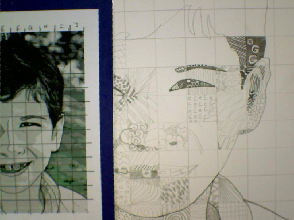 Grid Drawing Portrait At Getdrawings