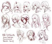 hair anime drawing