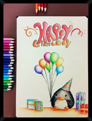 birthday cards card drawing pencil friends happy drawings easy getdrawings