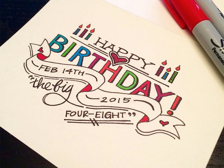 Happy Birthday Drawing Designs At GetDrawings Com Free