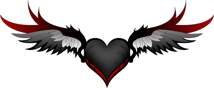 Hearts With Wings Drawing At GetDrawings.com